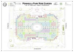 Peninsula Park Rose Garden Rose Map