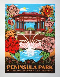 Peninsula Park Rose Garden Poster by Jodie Beechum